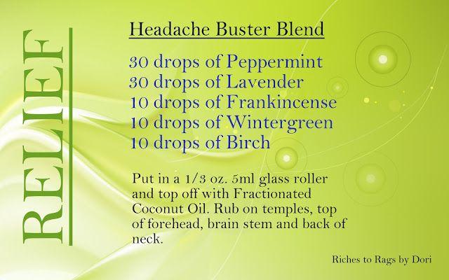 Marie's {Botanical} Bliss: Headache Help