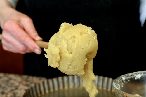 Tart dough - truly intriguing method: heat butter in the oven and dump in some flour- stir until smooth. Could also take this towards savory with parmesan cheese