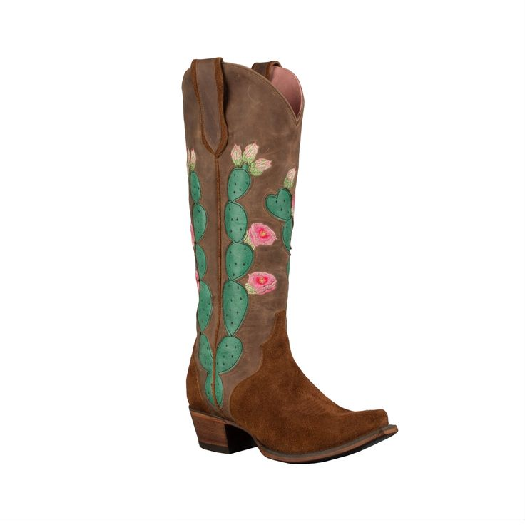 Junk Gypsy Hard to Handle Rough-out Brown Cactus Boot by Lane Boots