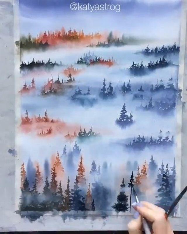 Tutorial Velocizzato Abstract Artwork Watercolor Illustration