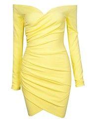 γυναικών sexy μακρύ μανίκι μίνι φορέματα φορέματ... – EUR € 16.99