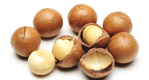 Native to eastern Australia, the macadamia nut is eaten raw or included in a variety of dishes. From breads to lamb roasts and cakes, this is a versatile nut.