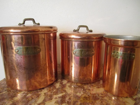 Copper Canisters Copper Pinterest