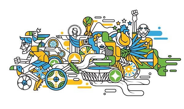 Brazil 2014 Embraer by Pedro Melo, via Behance #people #icons