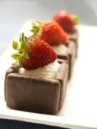 Chocolate Biscuits and Strawberry Treat with Ice Cream Inside