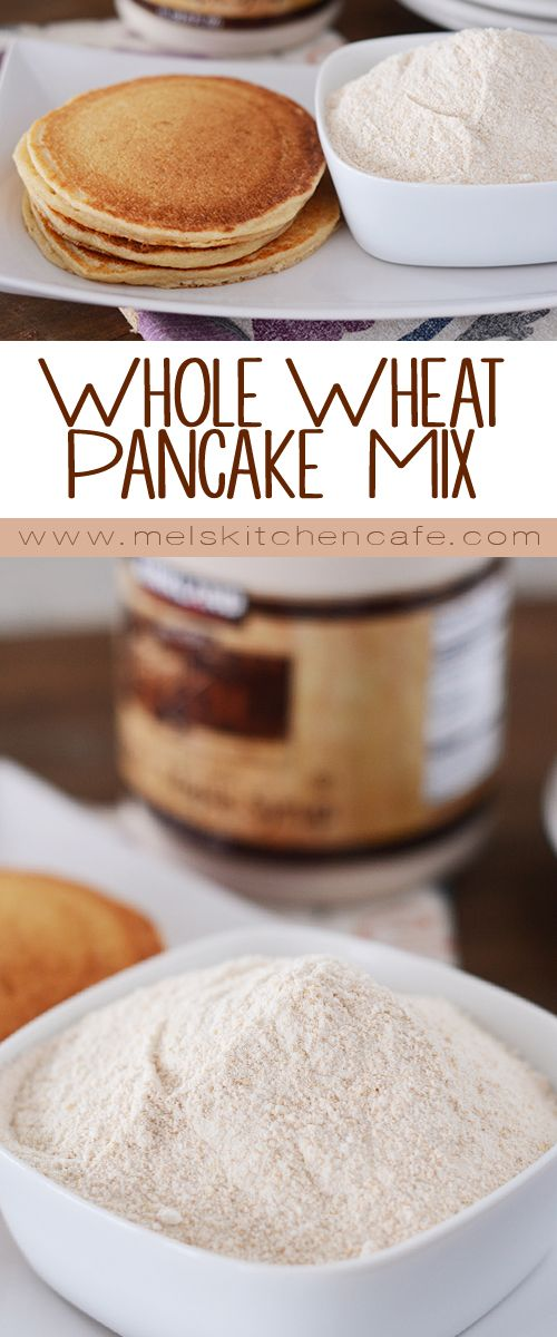 This whole wheat make-ahead pancake mix is great for those hectic mornings that call for a delicious, quick, and healthy breakfast.