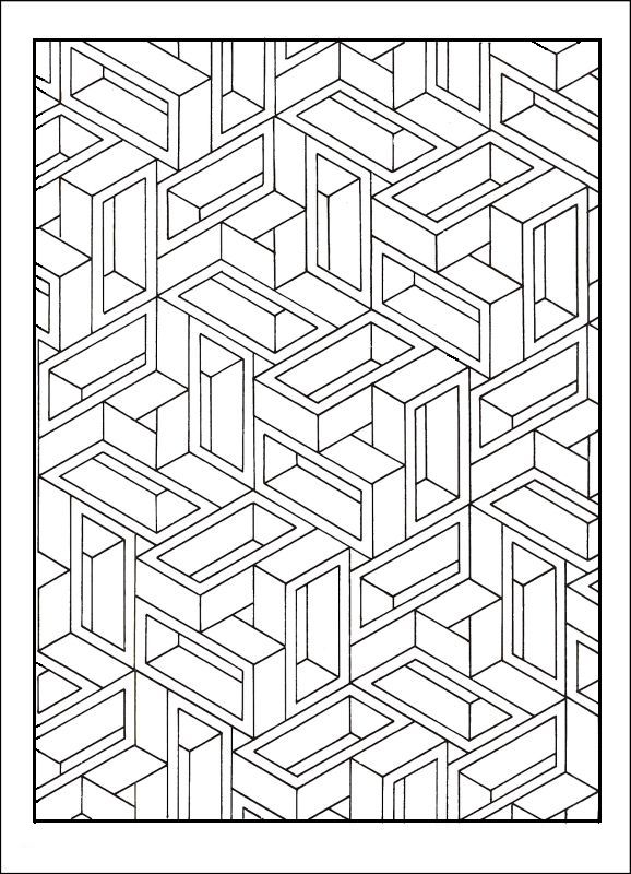 """Coloring page for adults - previous page said """"This one will mess with you! : >"""""""