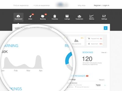 Dashboard Page 2/2 by Barthelemy Chalvet (via AgenceMe) for AgenceMe
