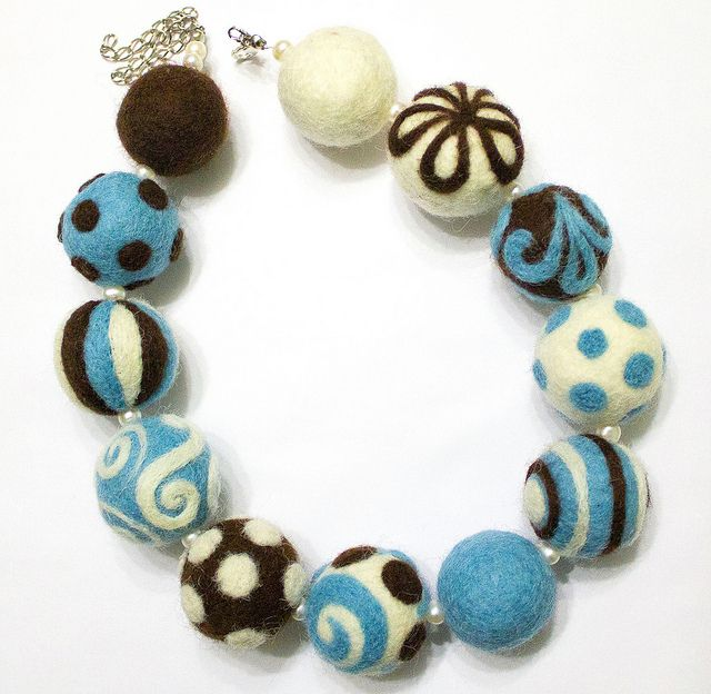Felted Beads by Anna Jour, via Flickr