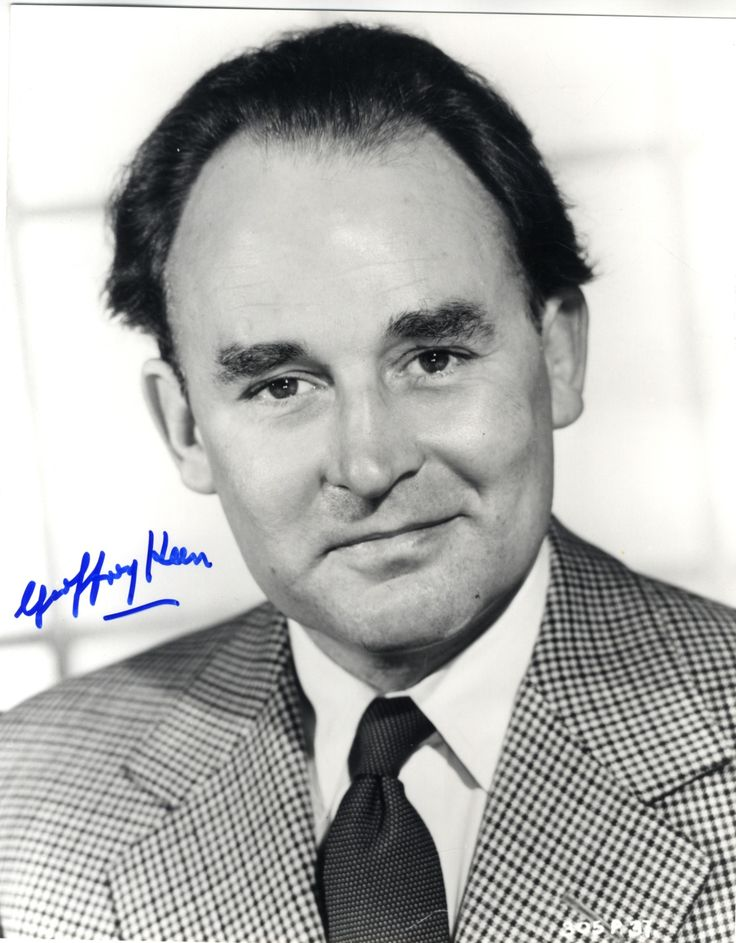 JAMES BOND: Desmond Llewelyn (1914-1999) Welsh Actor, portrayed Q in seventeen James Bond films. Signed photograph of Llewelyn in a head and shoulders pose in costume as Q. Signed in bold black ink, largely across a clear area of the image; Geoffrey Keen (1916-2005) English Actor, portrayed Frederick Gray, Minister of Defence, in six James Bond films. Signed 8 x 10 photograph of Keen in a head and shoulders pose. Signed in bold blue ink with his name alone to a clear area of the background