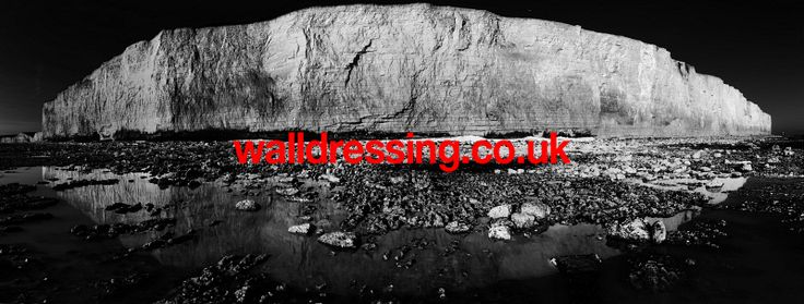 www.walldressing.co.uk clearance free, photography, cliffs, seven sisters, reflection, sea, beach, panoramic,