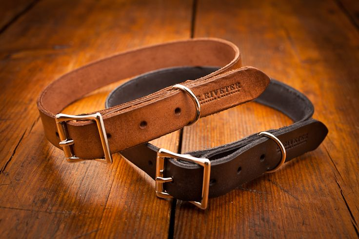 Leather Engraved Dog Collar by R. Riveter