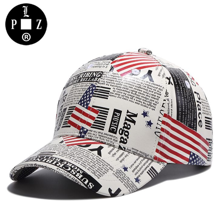 PLZ Original Brand Newspaper Design Baseball Cap Fashion Sun Hats For Men Women Street Casual Caps High Quality 55-60cm k329 #Affiliate