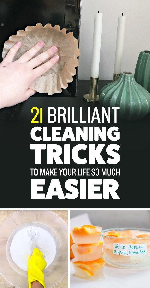21 Clever Cleaning trucs voor luie mensen