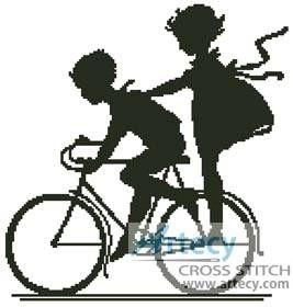 Bike cross stitch pattern.
