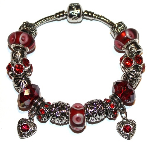pandora bracelet in red
