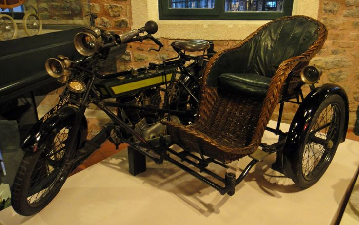 steampunk vehicles   gobsofgook:Royal Enfield motorcycle with wicker sidecar circa 1913.