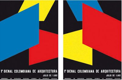 Catalog with color planes generating spaces, Dicken Castro, 1962