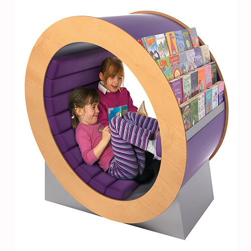 The Reading Hideaway is a children's library display with some serious WOW factor! Kids love to curl up with a new book!