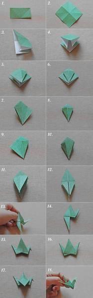 Origami, grullas de papel... dice la leyenda que a la persona que haga mil grullas de papel se le concederá un deseo... a mi me parecen muy lindas y decorativas...a hacer grullas!!