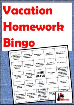 Long weekends and weeks off can be great as a teacher, but many of our students lose the ground they have gained in classroom during this time. This simple homework bingo gives students plenty of options to use reading, writing and math skills while on vacation.