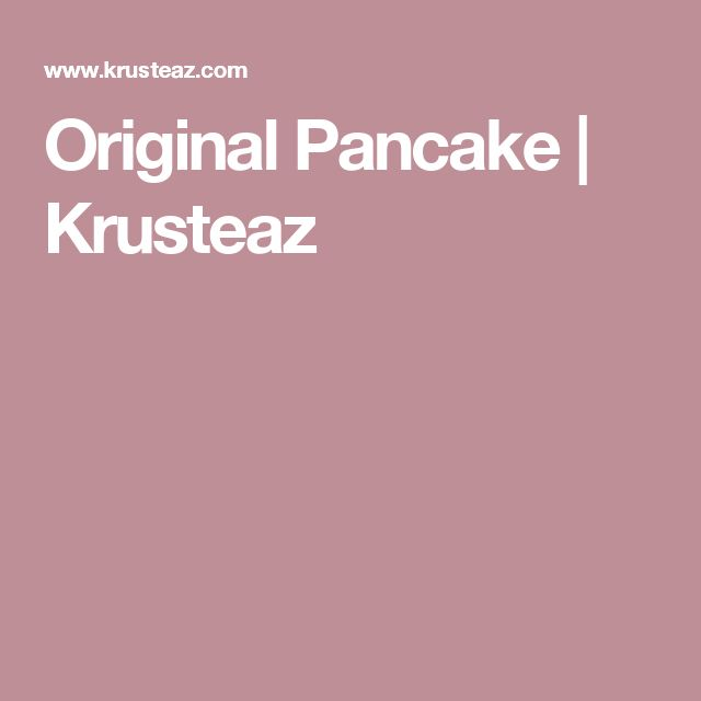 Original Pancake   Krusteaz