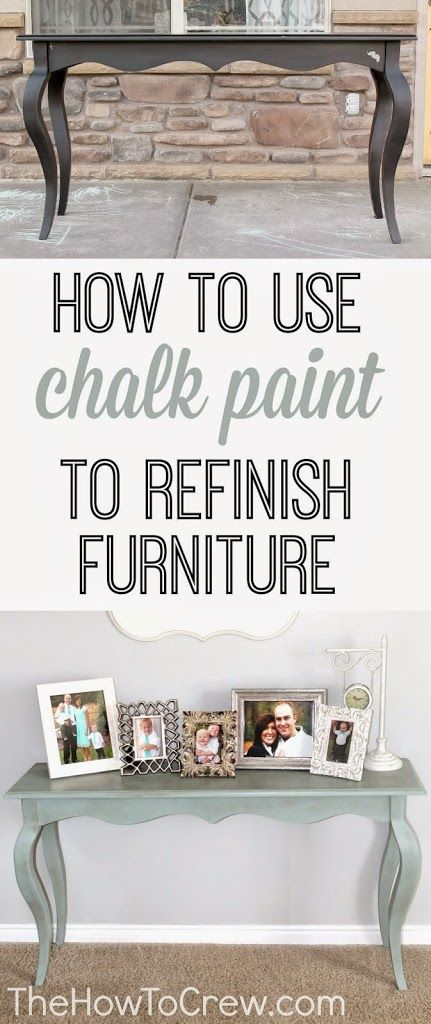 How To Paint Furniture Using Chalk Paint - The How-to Crew
