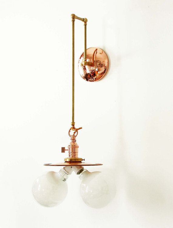 Modern Copper Wall Sconces : Copper Wall Sconce Wall Fixture Pendant Industrial Wall Lighting Copper Sconce Copper Lamp ...