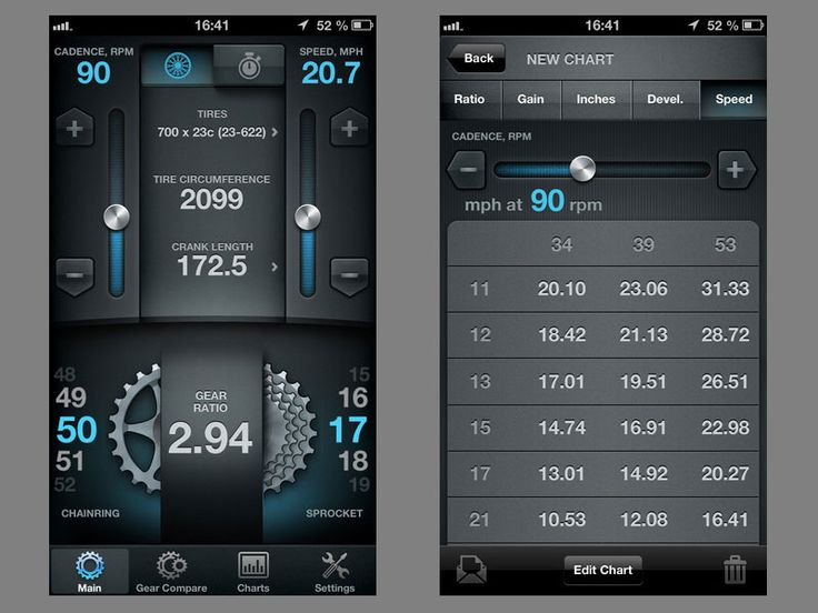 Bike Gear Calculator app