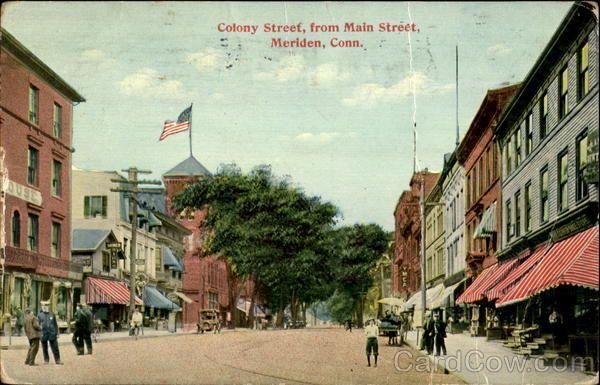 Colony Street From Main Street Meriden Connecticut