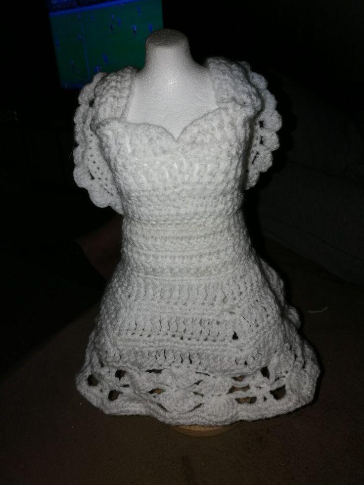 Paspopje omhaakt met engelen jurk
