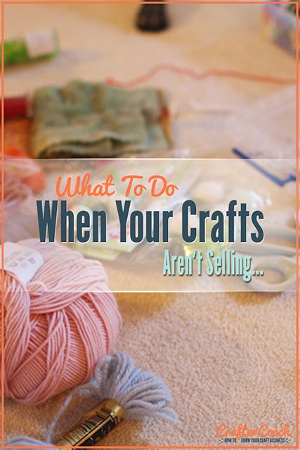 It can be super frustrating to put all of your time and effort into your craft store and then your crafts aren't selling! There are things you can do to...