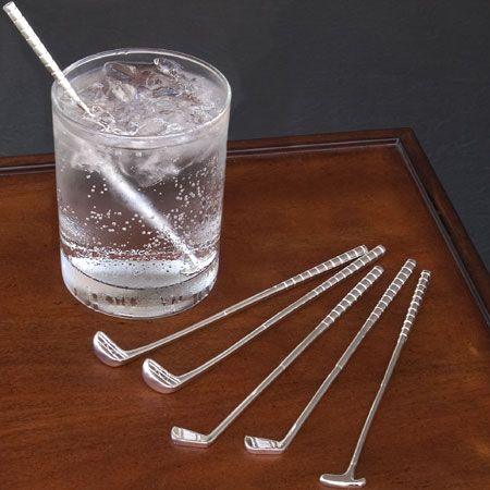 Golf Club Cocktail Stir Sticks, Golf Club Shaped Swizzle, Golfers Drinking Gift http://www.centroreservas.com/