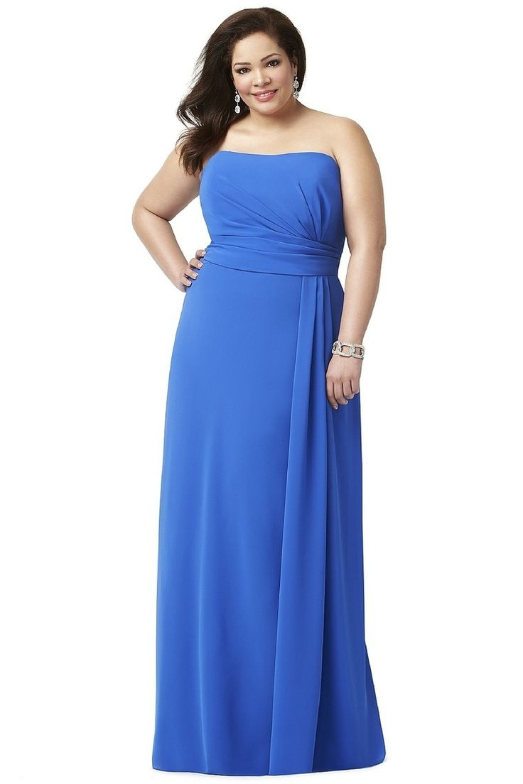 24 best plus size bridesmaid dresses images on pinterest plus 2013 bridesmaid dresses a line strapless floor length chiffon ruffles ombrellifo Choice Image