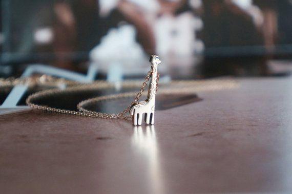 Giraffe ketting edelstaal ROSE goud, schattige dieren sieraden dagelijks sieraden cadeau voor haar zoo