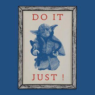 DO IT JUST! Art Print A3