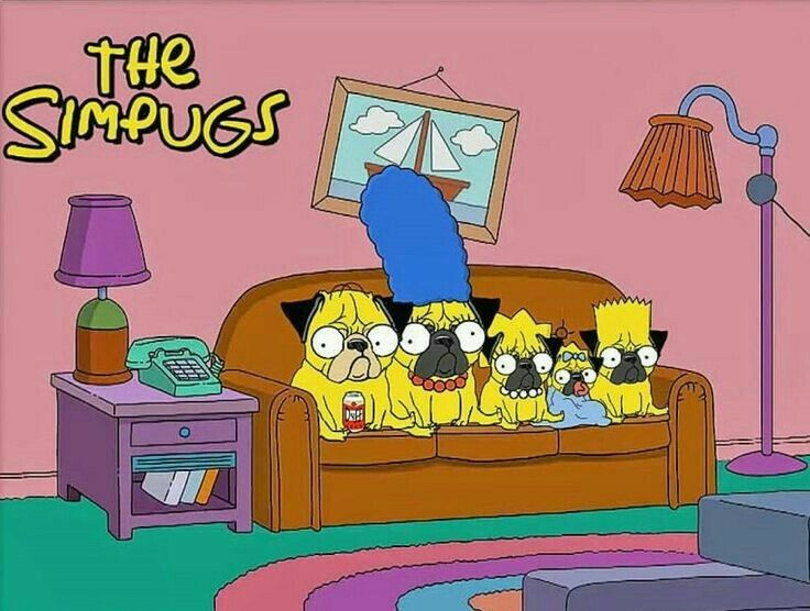 Pug #Simpsons - this is so cool! www.jointhepugs.com #PugPower #PugLife…