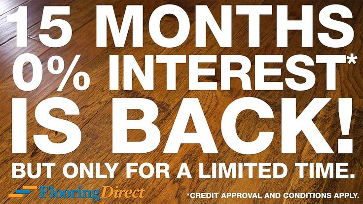 Don't let this special offer slip away--Zero Percent Interest 15 Month Easy Financing Is Back for a LIMITED TIME! Act now because this extraordinary offer will end before the year is out. Get started by calling 888-466-4500 or clicking on the image above to book a Shop-at-Home appointment and FREE estimate.  http://flooringdirecttexas.com/zero-interest-easy-financing/ #flooring #DFW #financing #hardwood #carpet #tile #laminate