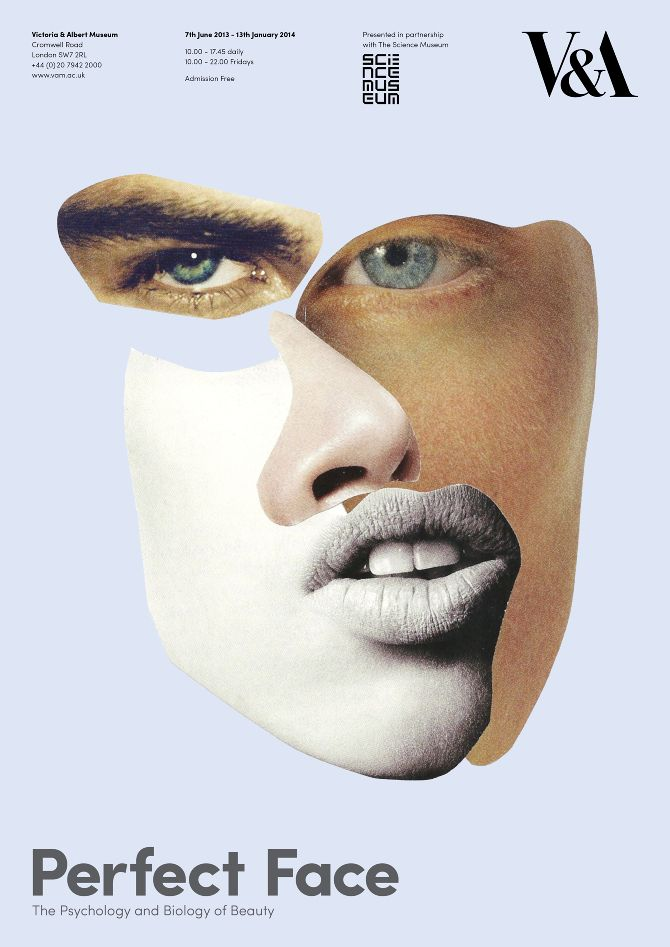 David Frew – Perfect Face: The Psychology and Biology of Beauty (poster for a fictional exhibition)