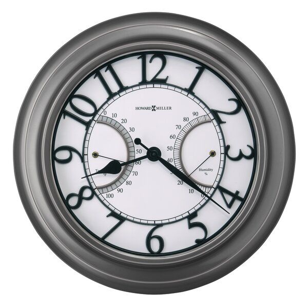 Tawney 17 25 Wall Clock In 2020 Outdoor Wall Clocks Howard Miller Wall Clock Wall Clock
