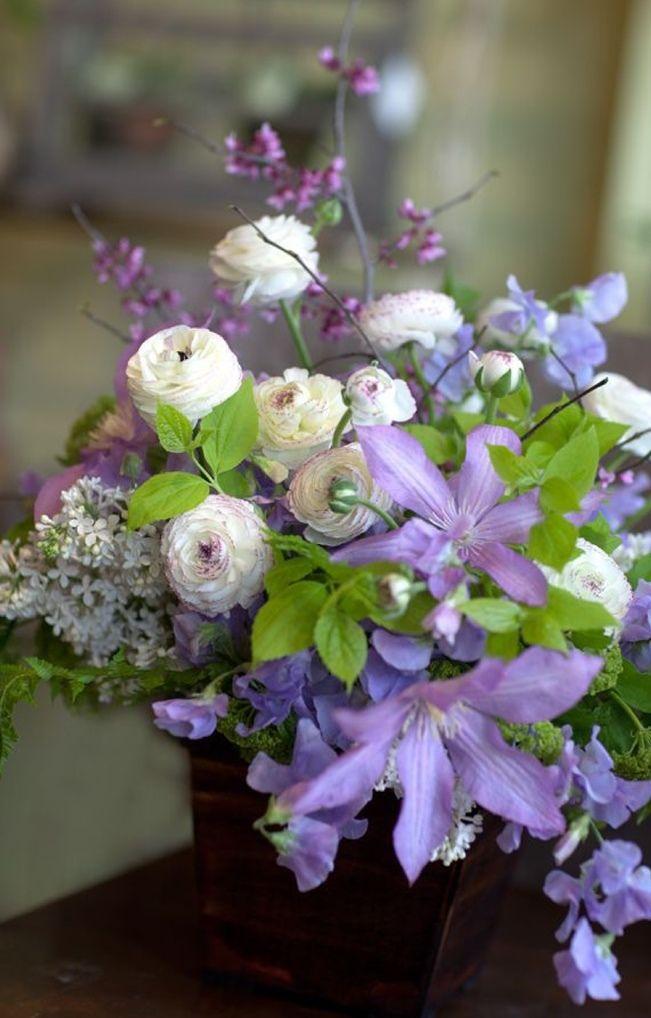 Sweet Violet Bride - Romantic Bouquet wedding flower inspiration clematis lavender