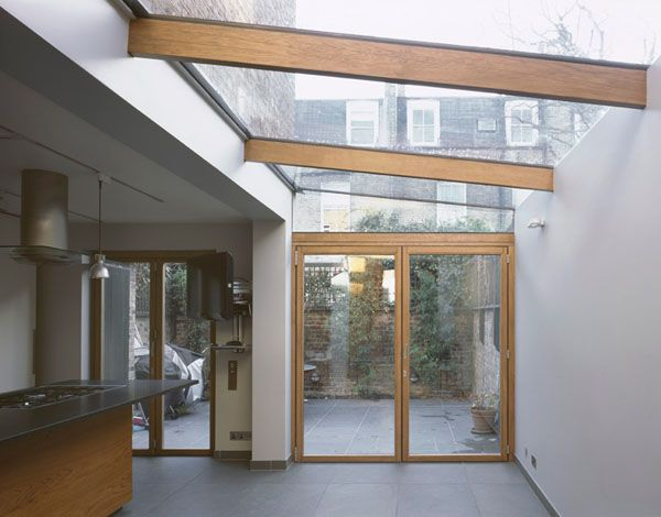 Lean-to glazed roof number 2, same property. Very light, but not a room that looks warm and habitable.