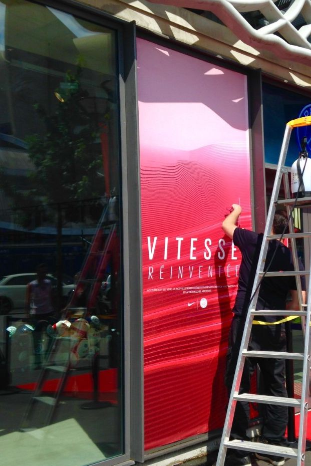 Paris Saint-Germain store is getting ready for the reveal of the away jersey 16/17  #psg