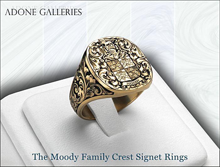 14k Gold Family crest ring