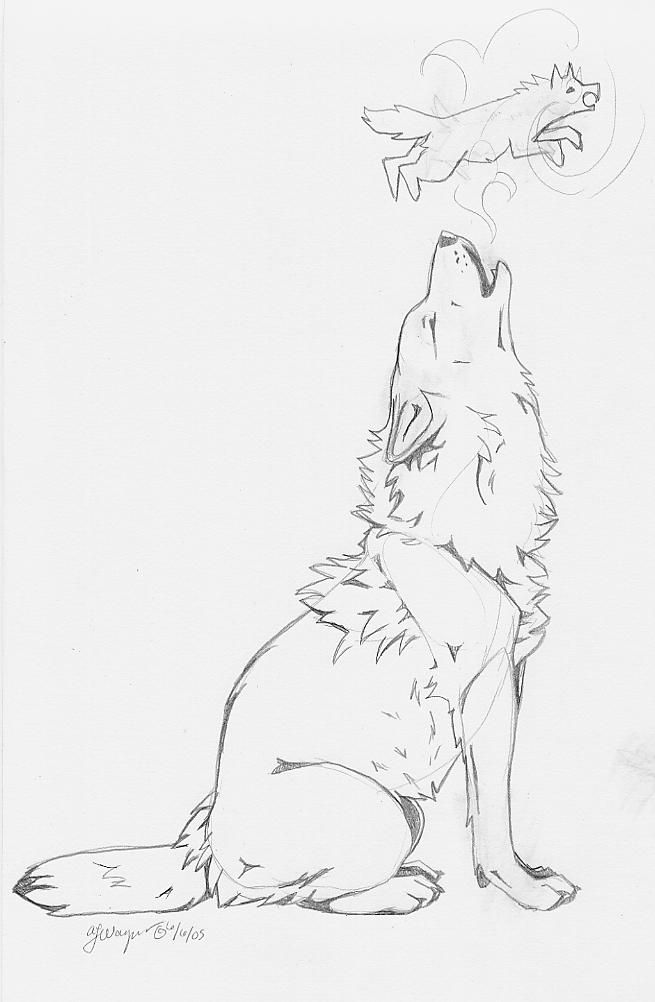 Howling Wolf Tattoo Idea By Chenneoue Howling Wolf Tattoo Anime Wolf Drawing Animal Drawings Sketches