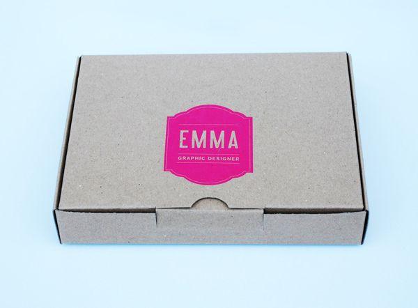Personal logo branded box mailer   Self Promotional Mailer by Emma Hopkins, via Behance