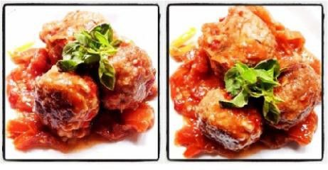 How about this soya meat balls? You can also prepare it with lentils and other kind of veggy protein. http://nadisajackco.blogspot.com/2014/05/albondigas-de-carve-en-salsa-de-tomate.html