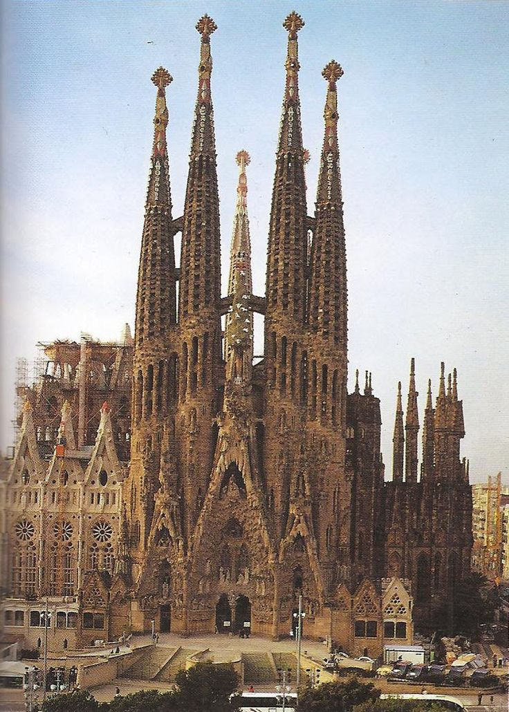 Gaudi's Cathedral in Barcelona