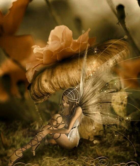Fairy under a mushroom