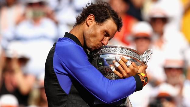 """Rafael Nadal describes his """"joy"""" at winning a record 10th French Open after beating Swiss third seed Stan Wawrinka."""